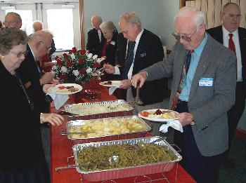 [Lunchtime at Berea Baptist church]
