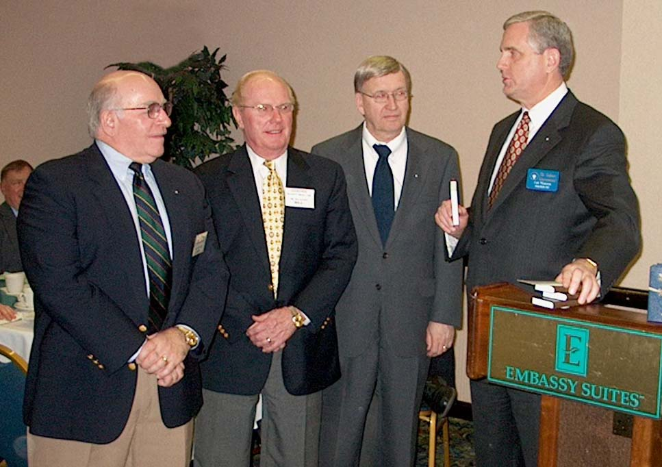 From left: John Massey, William Eaton, John Gaydos, Lee
